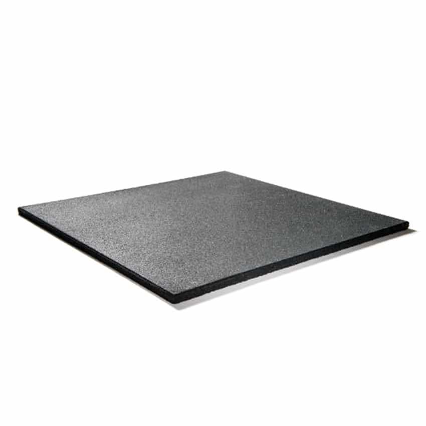 bos rubber fitnesstegel home 500x500x15mm zwart