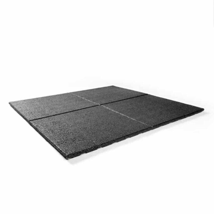 Bos Rubber fitnesstegel home outdoor 1000x1000x25mm zwart bovenkant
